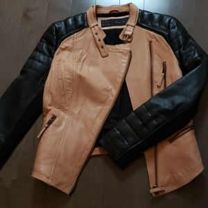 ZARA genuine leather jacket
